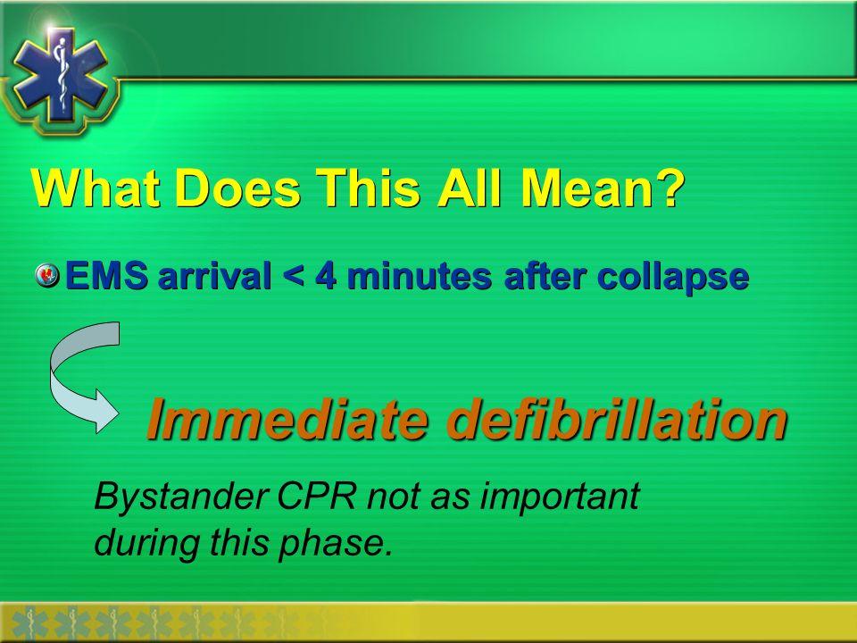 Immediate defibrillation