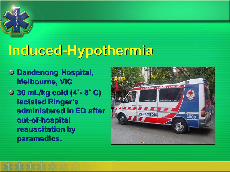 Induced-Hypothermia Dandenong Hospital, Melbourne, VIC