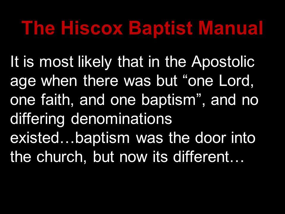 The Hiscox Baptist Manual