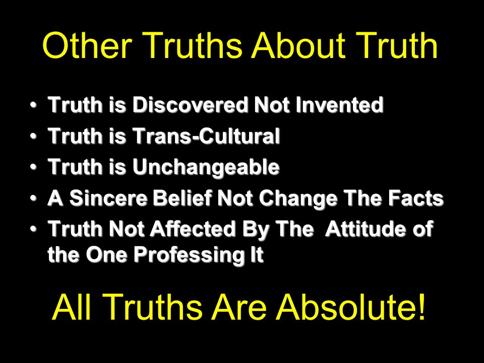 Other Truths About Truth
