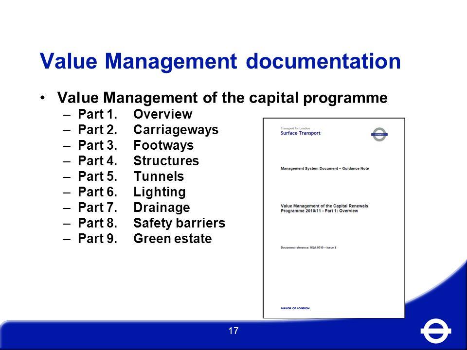 Value Management documentation