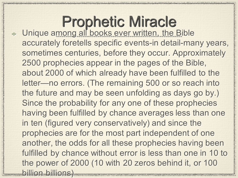Prophetic Miracle