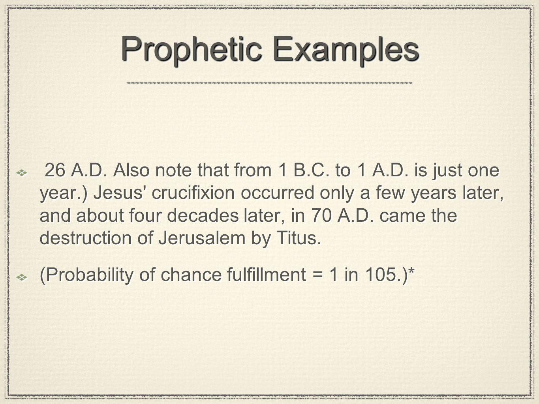 Prophetic Examples