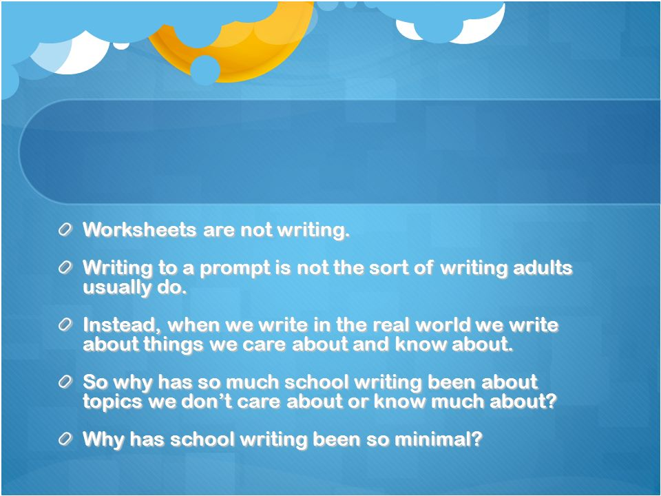 Worksheets are not writing.