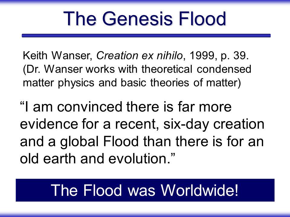 The Flood was Worldwide!