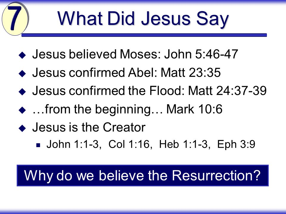 Why do we believe the Resurrection