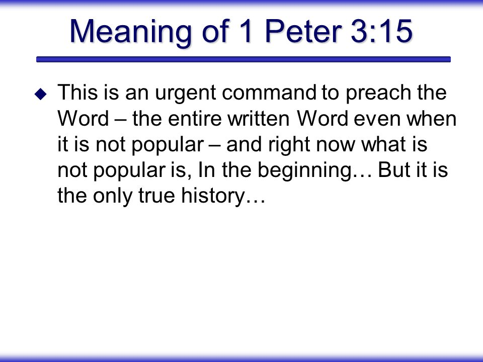 Meaning of 1 Peter 3:15