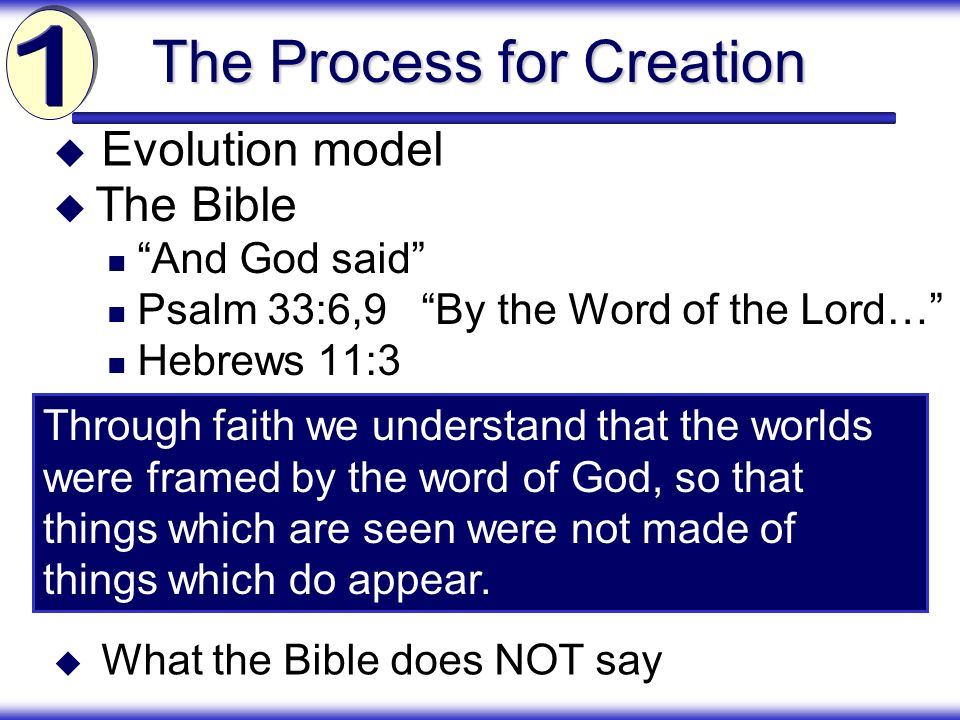 The Process for Creation