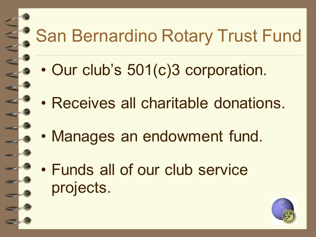 San Bernardino Rotary Trust Fund