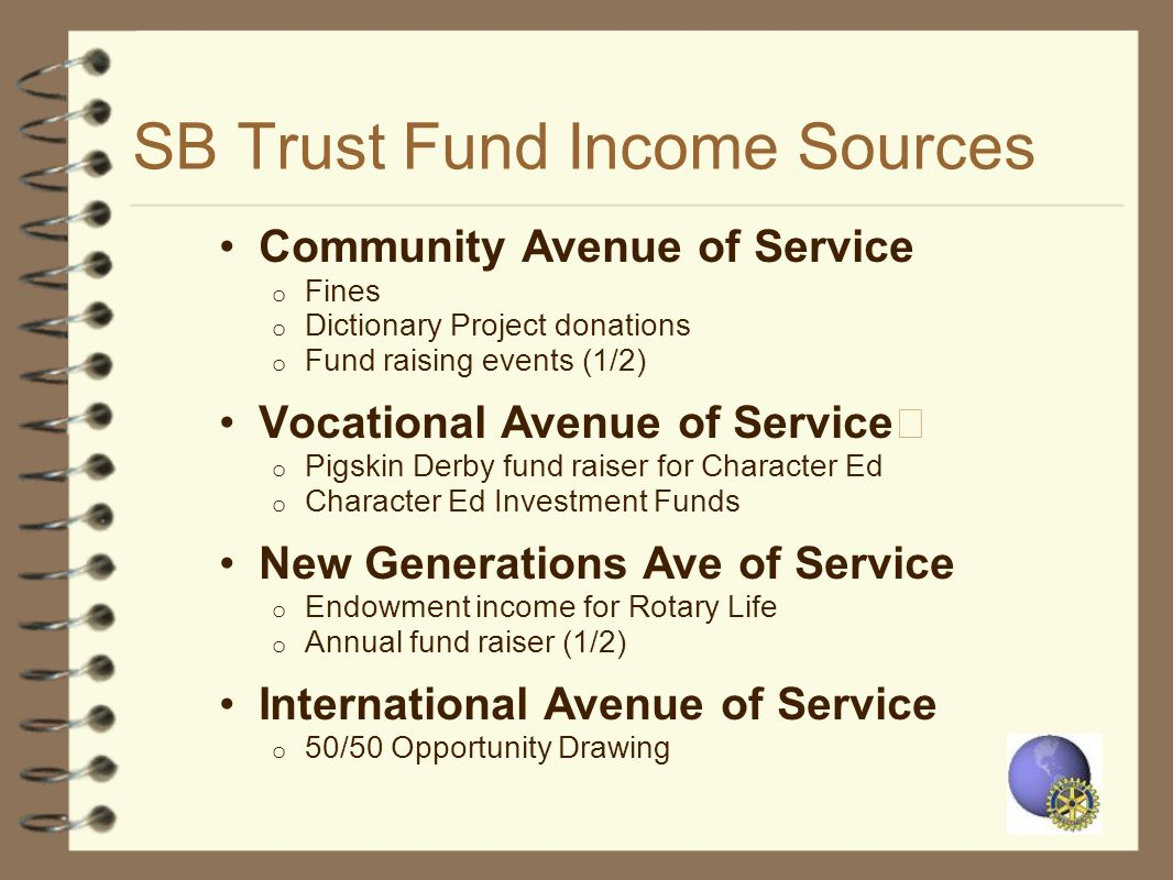 SB Trust Fund Income Sources