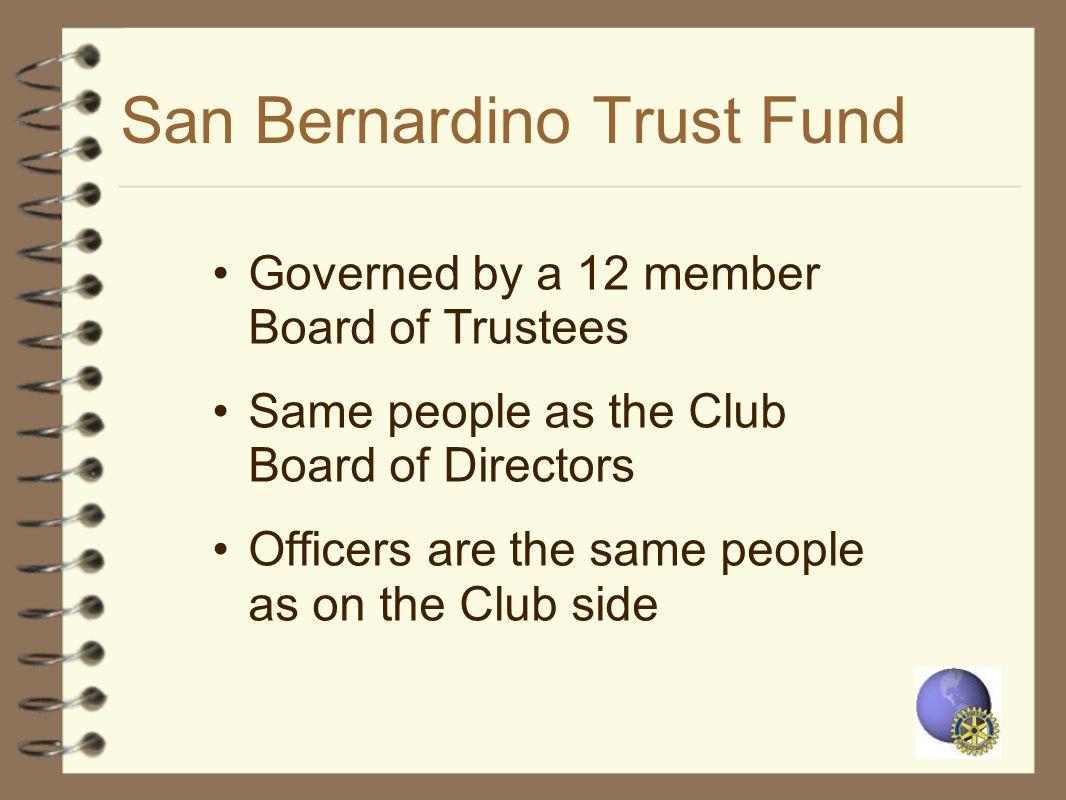San Bernardino Trust Fund