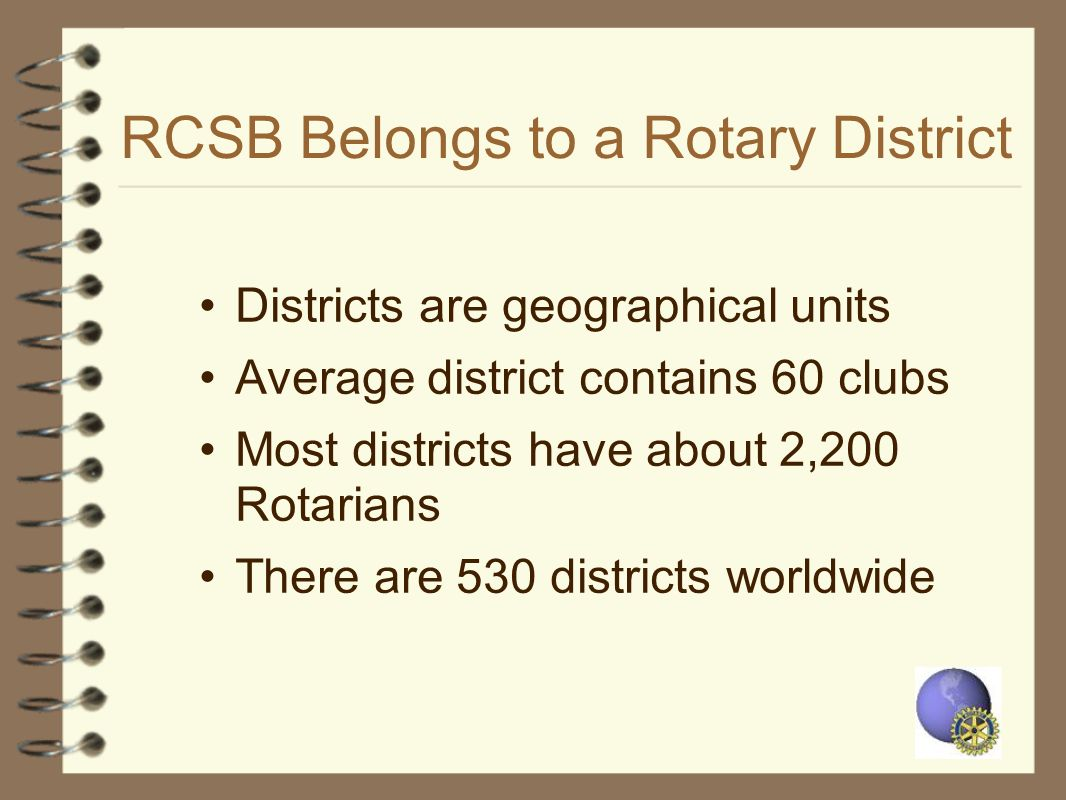 RCSB Belongs to a Rotary District