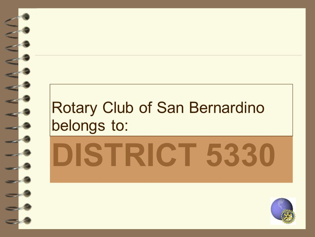 Rotary Club of San Bernardino belongs to: