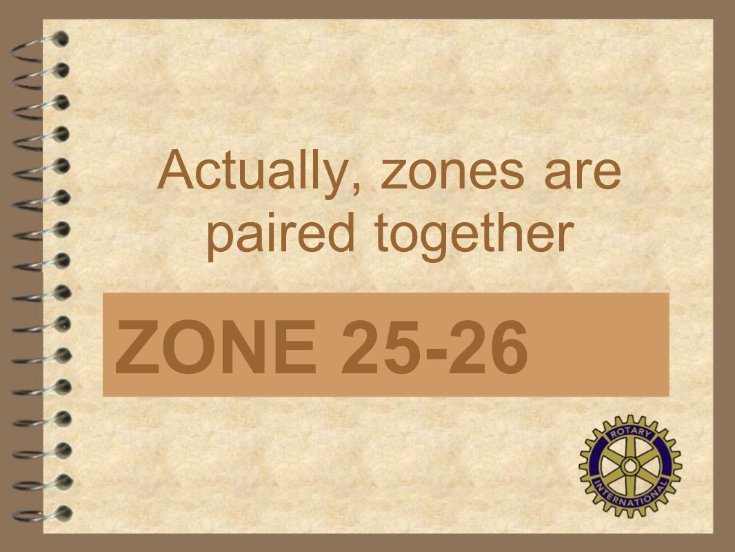 Actually, zones are paired together