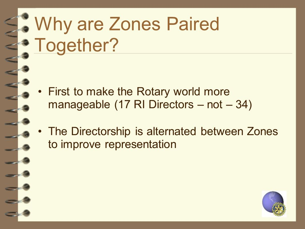 Why are Zones Paired Together