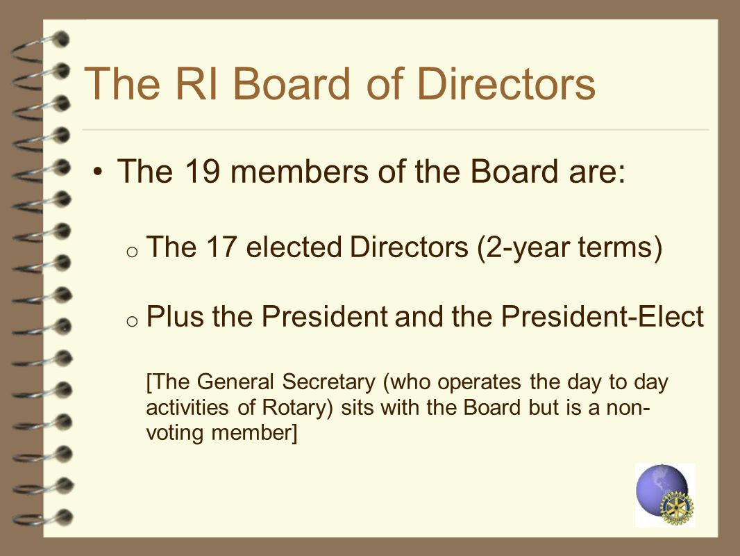 The RI Board of Directors