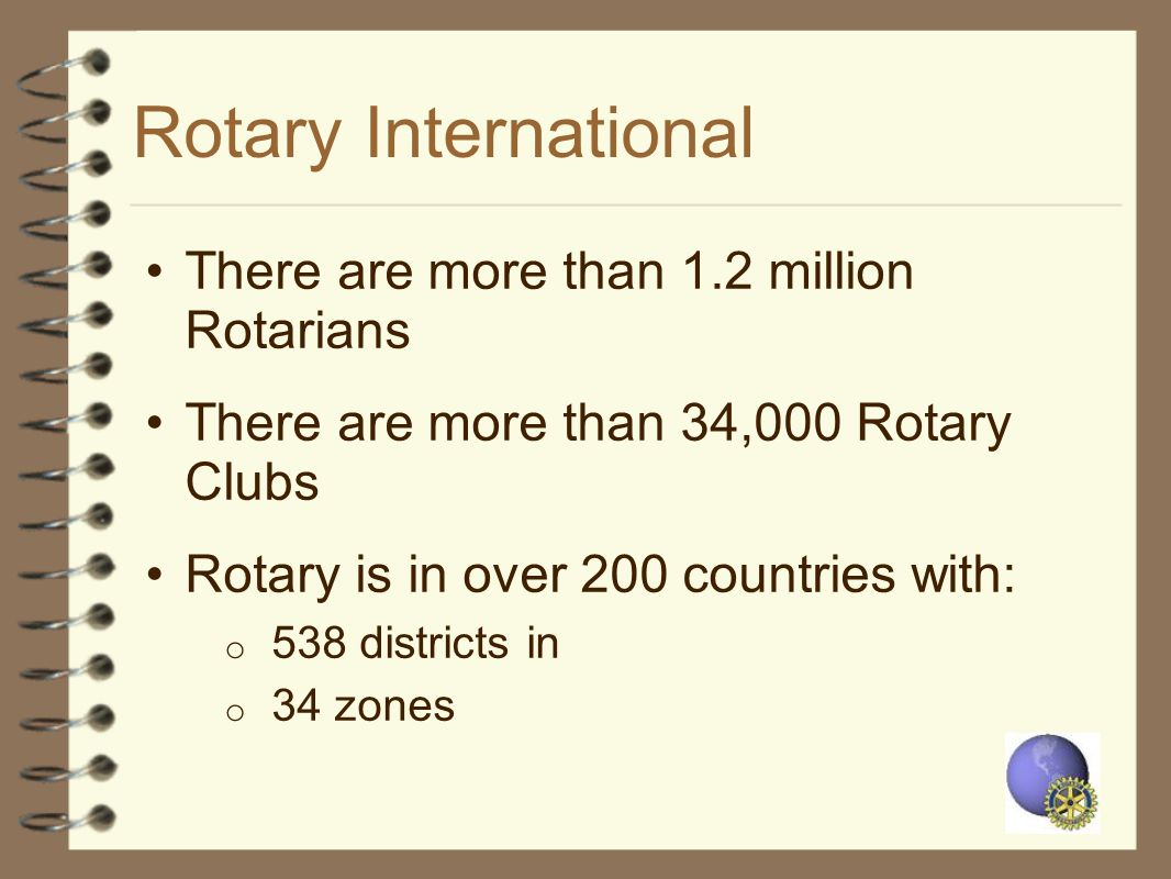 Rotary International There are more than 1.2 million Rotarians