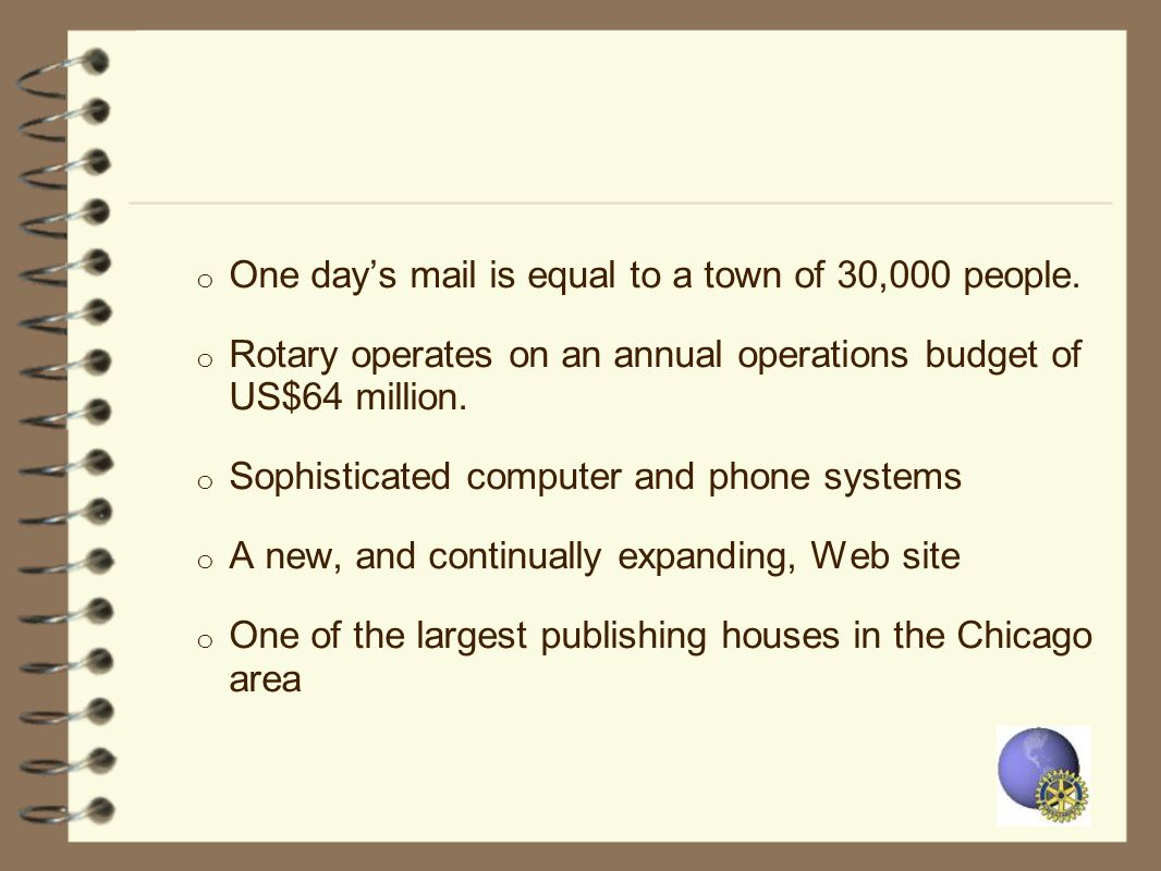 One day's mail is equal to a town of 30,000 people.