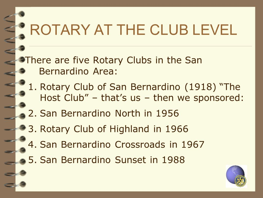 ROTARY AT THE CLUB LEVEL