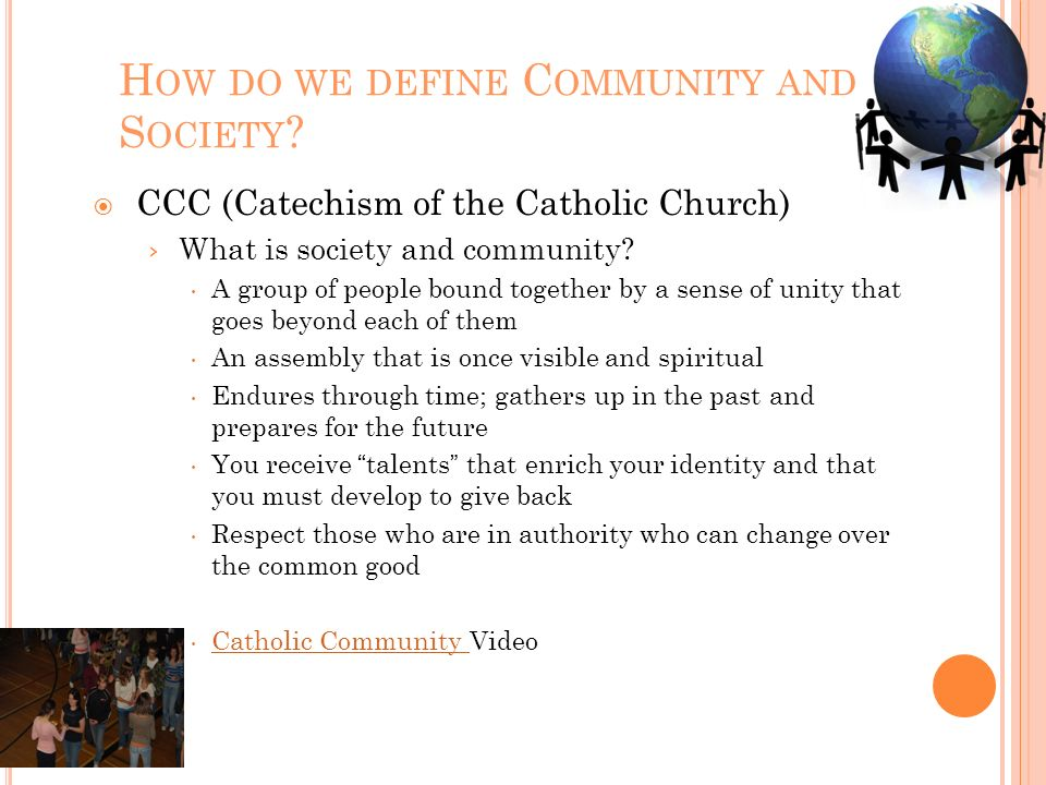 How do we define Community and Society