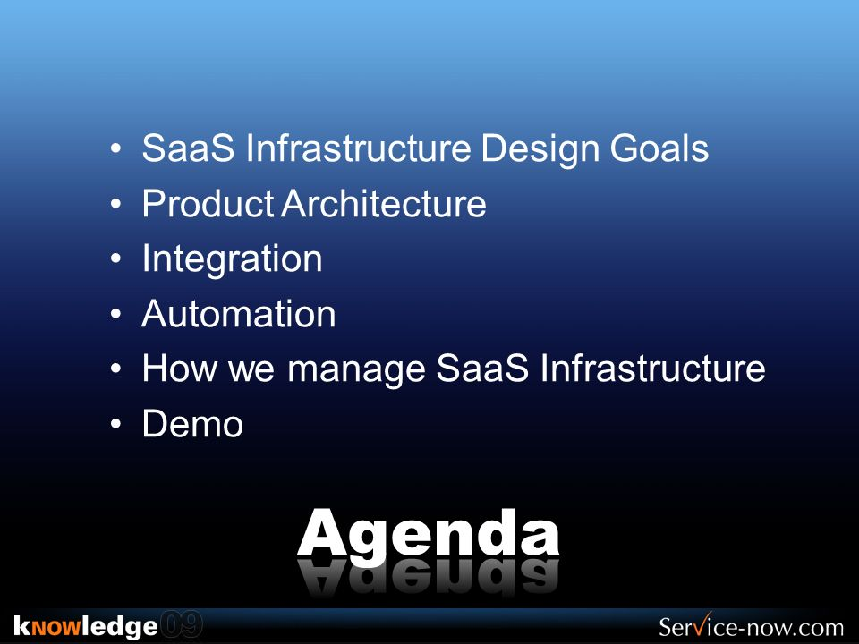 Agenda SaaS Infrastructure Design Goals Product Architecture