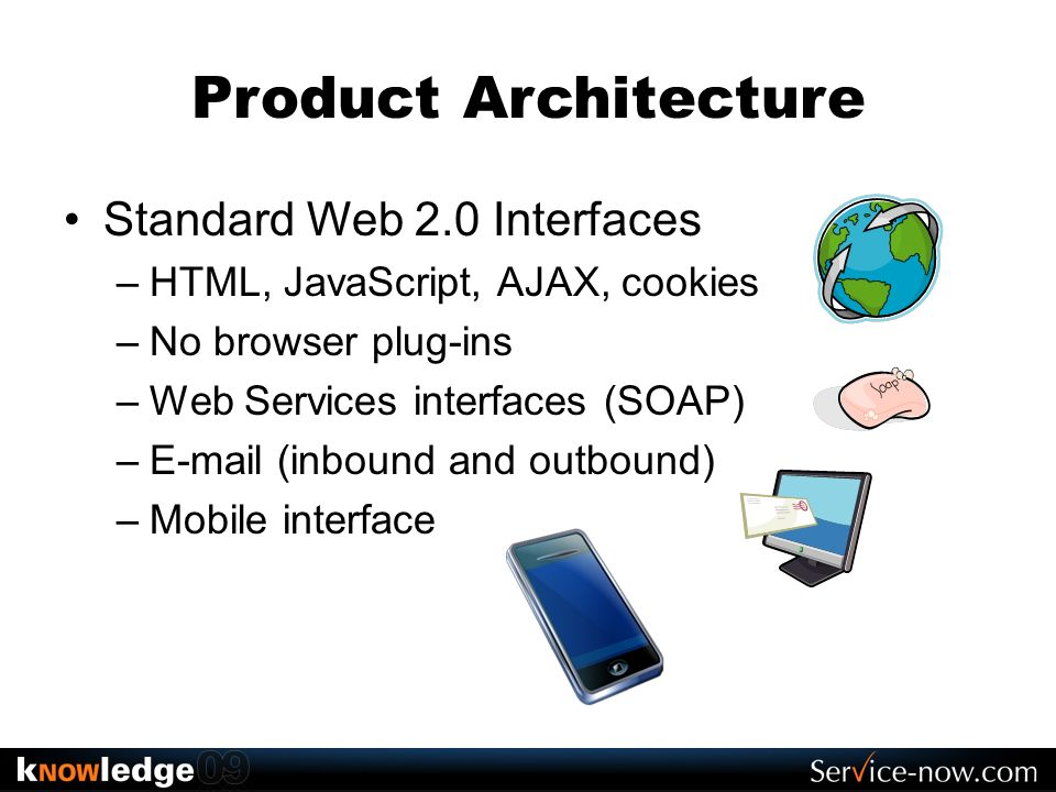 Product Architecture Standard Web 2.0 Interfaces