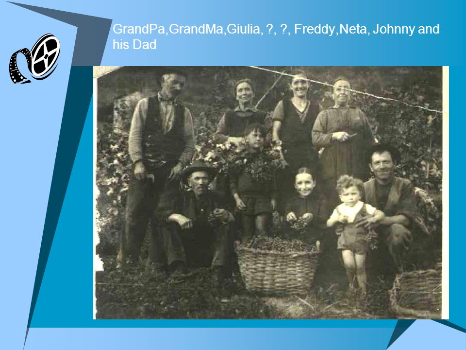 GrandPa,GrandMa,Giulia, , , Freddy,Neta, Johnny and his Dad