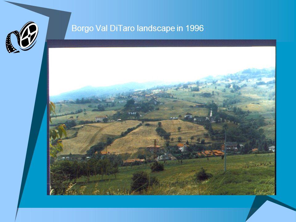Borgo Val DiTaro landscape in 1996