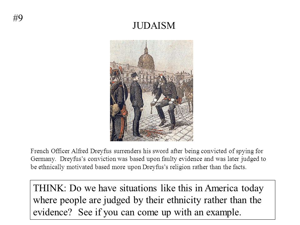 #9 JUDAISM.