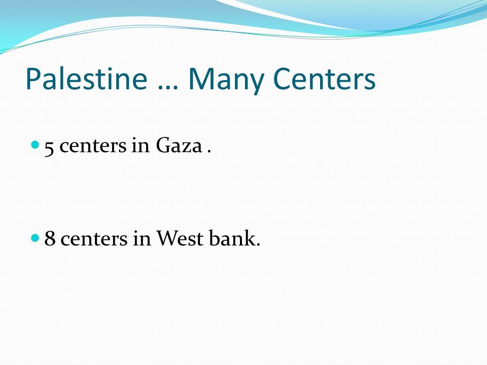 Palestine … Many Centers
