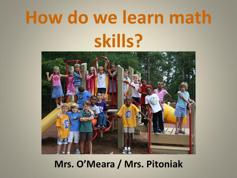 How do we learn math skills