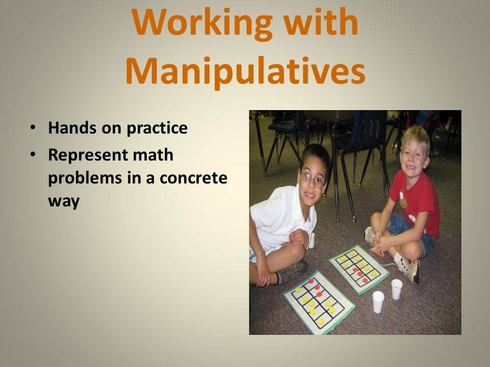 Working with Manipulatives