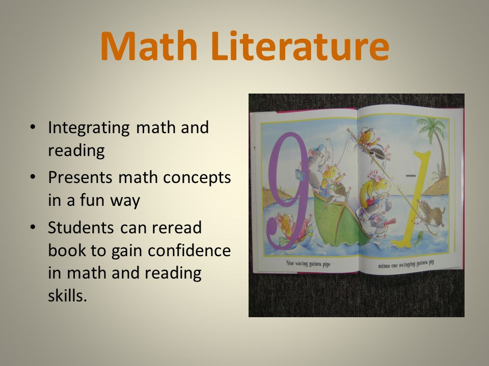 Math Literature Integrating math and reading