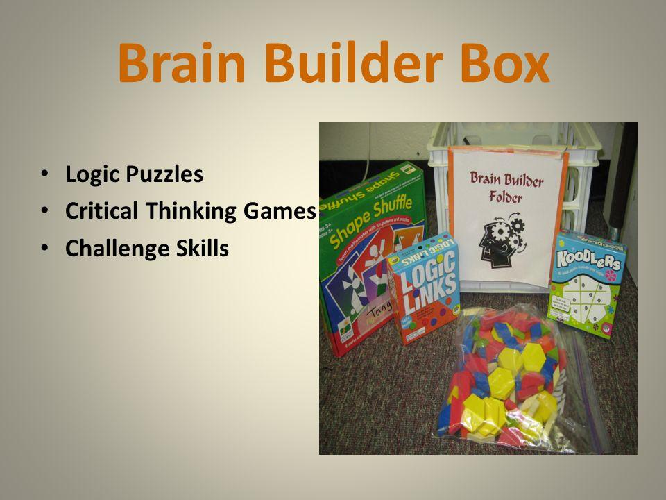 Brain Builder Box Logic Puzzles Critical Thinking Games