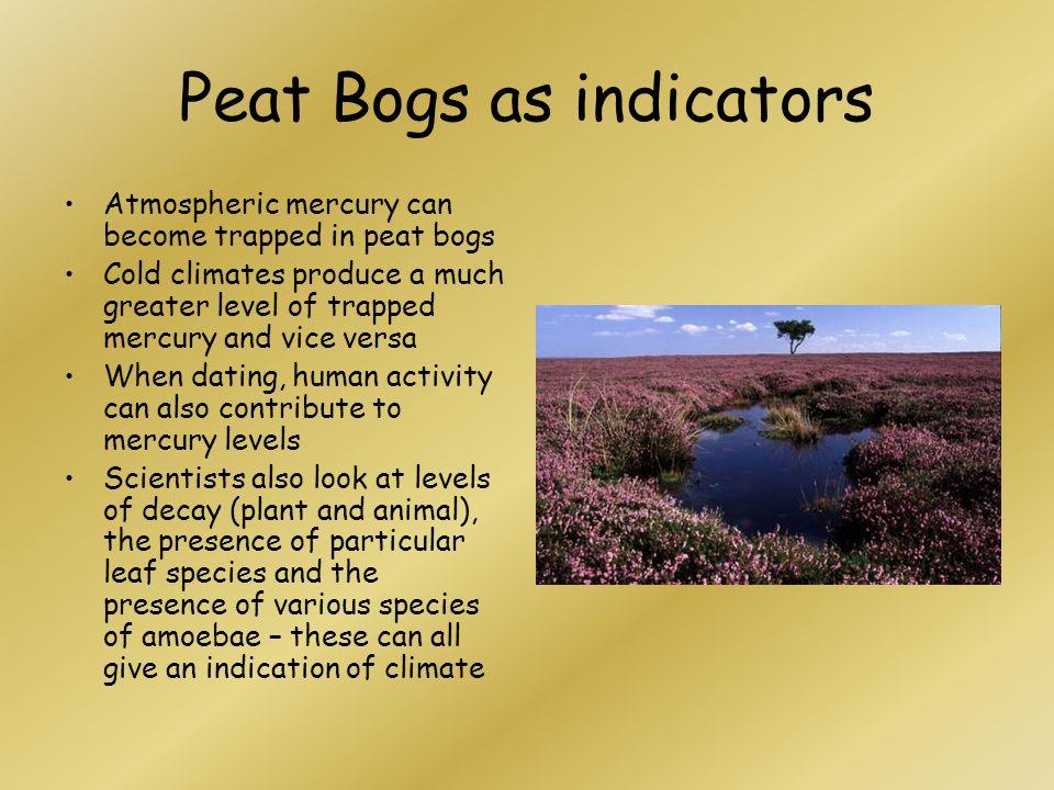 Peat Bogs as indicators