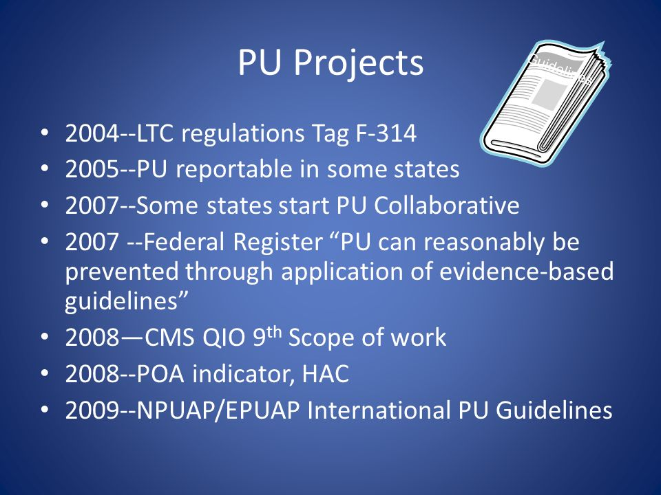 PU Projects 2004--LTC regulations Tag F-314