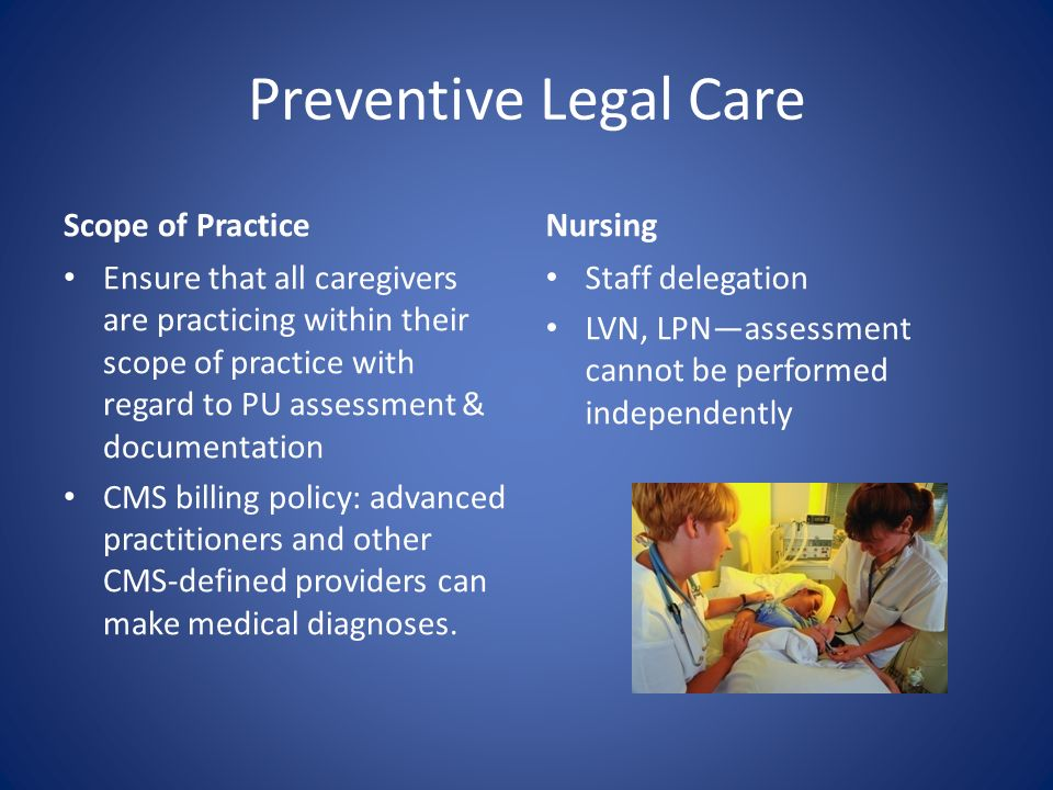 Preventive Legal Care Scope of Practice Nursing