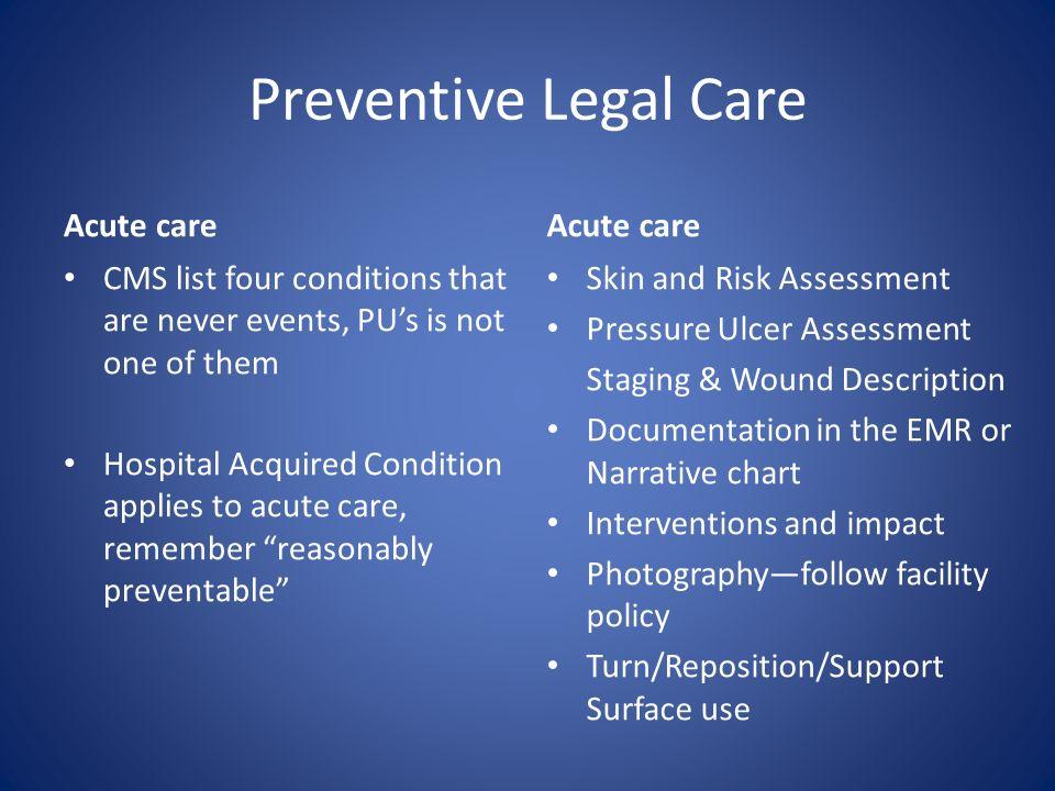 Preventive Legal Care Acute care Acute care