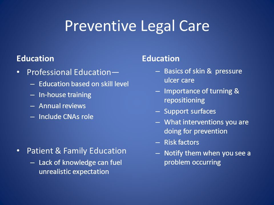 Preventive Legal Care Education Education Professional Education—