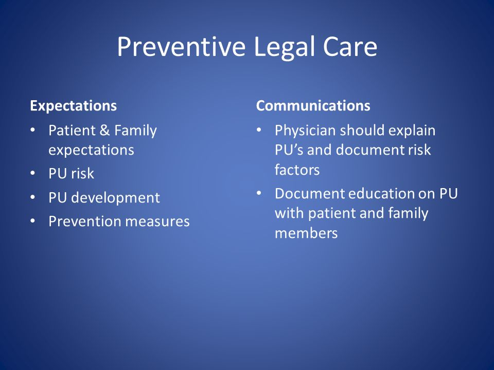 Preventive Legal Care Expectations Communications