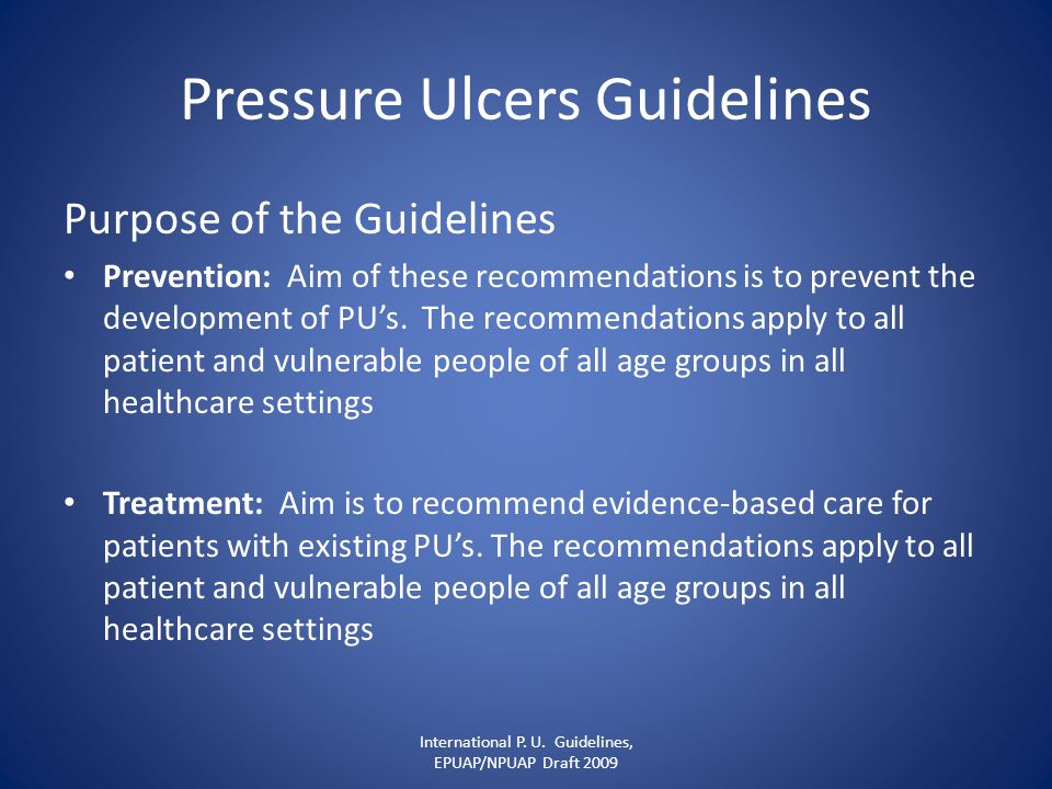 Pressure Ulcers Guidelines