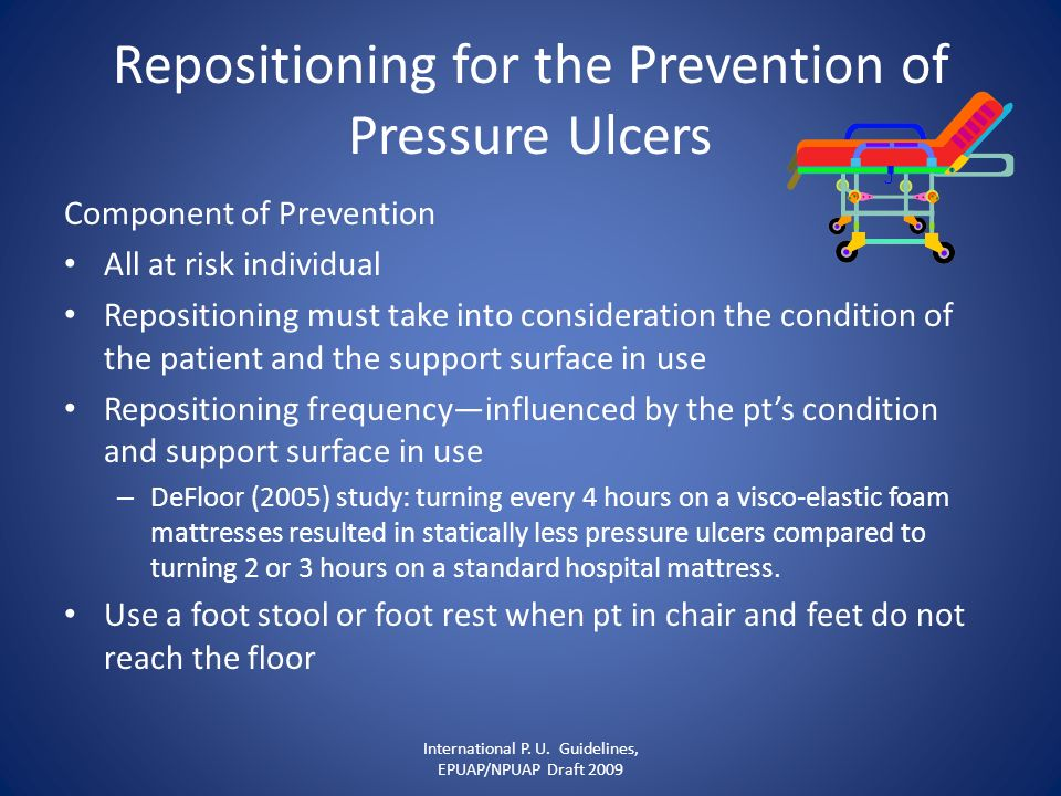 Repositioning for the Prevention of Pressure Ulcers