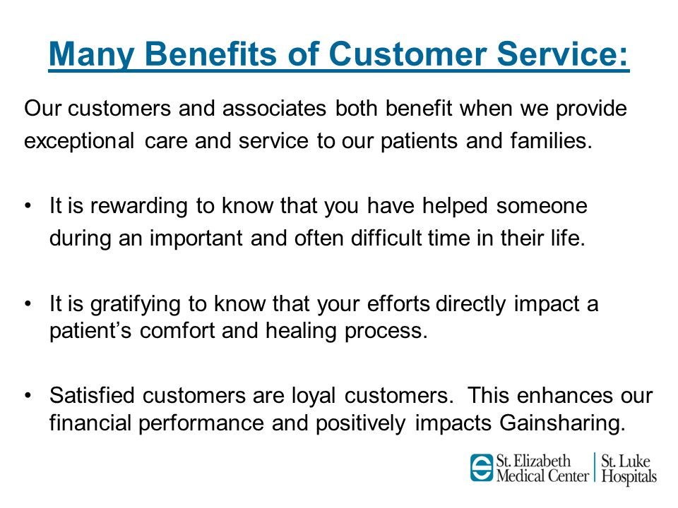 benefits of good customer care This training seminar on providing good customer service gives you the skills you need to communicate professionalism, gain respect the benefits of providing good customer service focusing on customer service excellence and success.