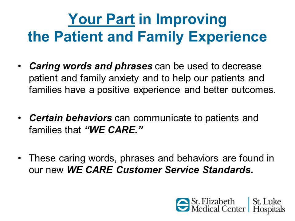 Your Part in Improving the Patient and Family Experience