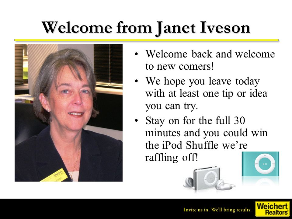 Welcome from Janet Iveson