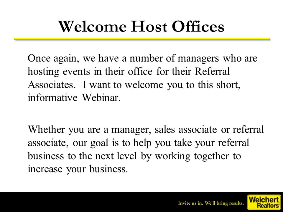 Welcome Host Offices