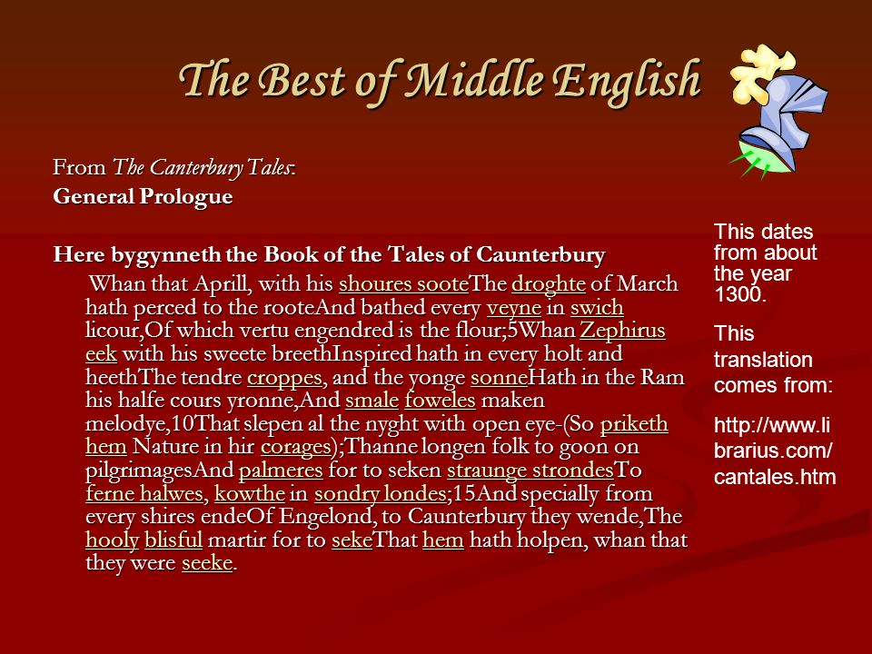 The Best of Middle English