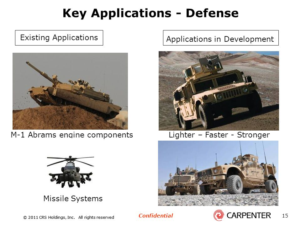Key Applications - Defense
