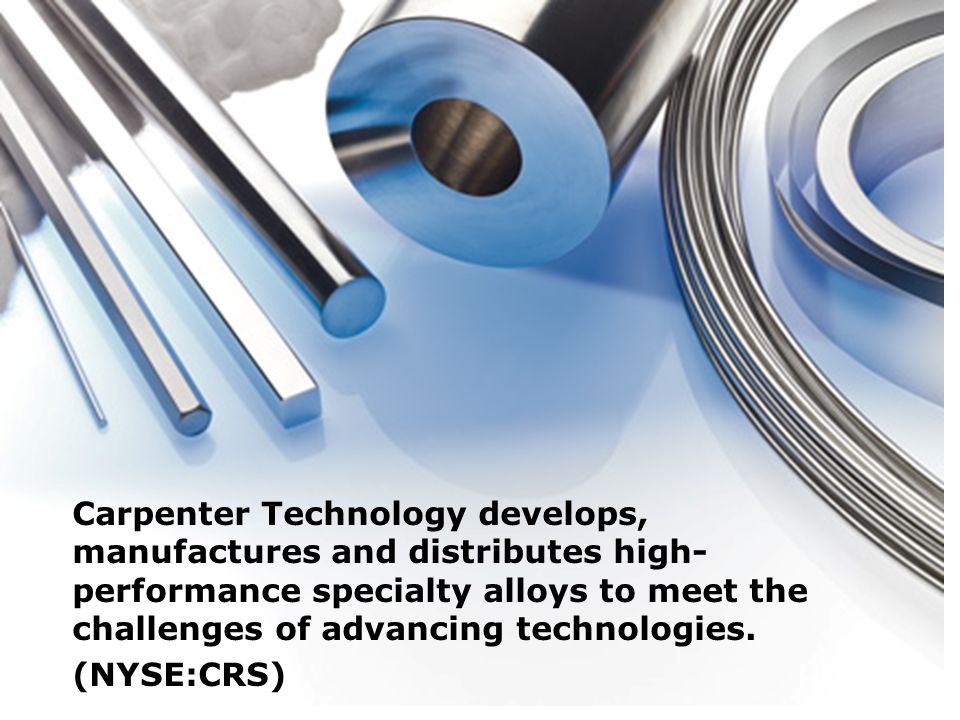 Carpenter Technology develops, manufactures and distributes high-performance specialty alloys to meet the challenges of advancing technologies. (NYSE:CRS)