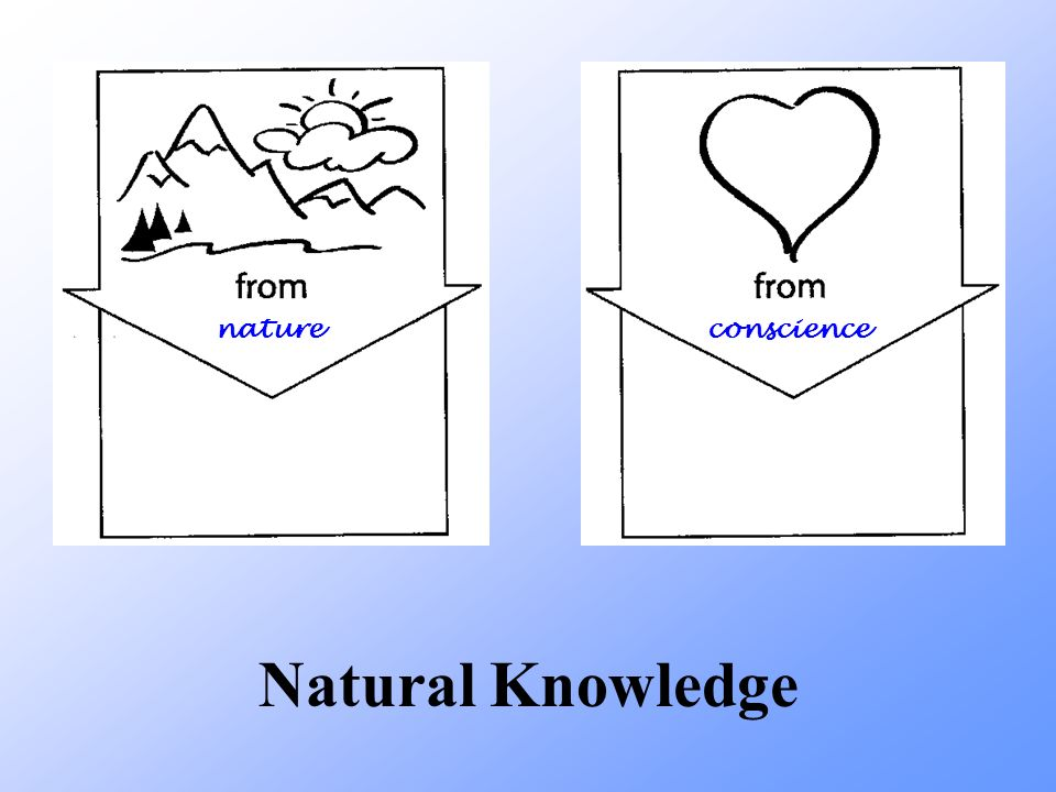 nature conscience Natural Knowledge